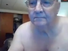 Horny grandpa ass play