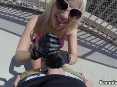 Blondie Fesser in Big Booty Blondie Fesser Takes a Public Pounding  Video