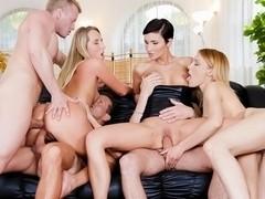 Gabrielle Gucci, Jenny Simons, Gina Momelli in Swingers Orgies #08, Scene #02