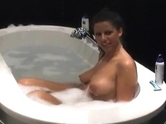 A blowjob and doggystyle sex in the bathtub