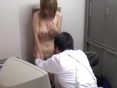 Japanese whore got nailed by a pervy chief of security