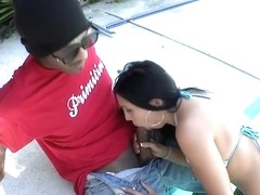Megan Foxx touching big cock. No sex.