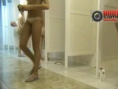 Slim MILF and sexy granny with big ass in the shower