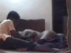 Indian pair has hot sex captured through the window camera