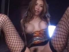 Fabulous Japanese chick Akari Asahina in Horny Fishnet, Fingering JAV video