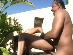 Hot Black Amateur Sucks Dick At The Pool