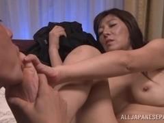 Japanese AV Model hot mature babe gets position 69