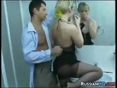 Russian Housewife Fucking In The Bathroom