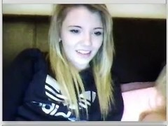 immature blonde teases on chatroulette