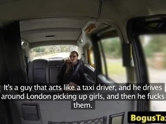American amateur facialized by uk cabbie