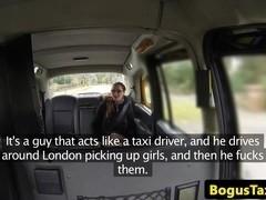 American amateur facialized by uk cabbie