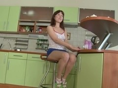Clips of tight teenie spreading her legs
