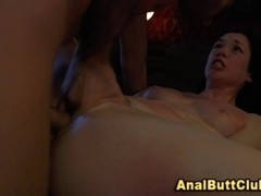 Ass fingered slut drilled