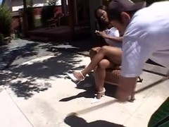 Ebony Babe 3some Turns Into Special Gangbang
