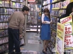 Julia nasty Japanese milf fucks in public places