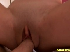 Anal fingered hottie wants cock in butt
