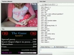 Blonde uk girl plays with a sex game on chat roulette