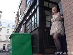 Sexy teen flasher Lauras amateur public nudity and voyeur exposure