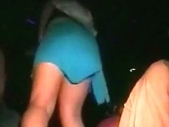 Hot tease dances at the club upskirt cam sees her pantyhose