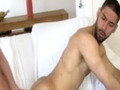 Bearded gay BFs christen new house fucking