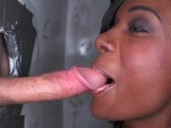 Black chick Lexxi Deep is being nicely drilled