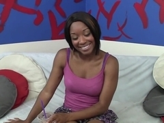 Exotic pornstar in hottest black and ebony, swallow porn video