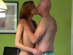 teen Beauty Girl Having Hot Sex With Grandpa