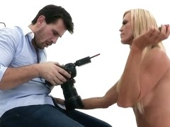 Glamourous Amber Lynn erotic photoset sex ending