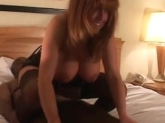Darksome nylons and dark wang cuckold creampie