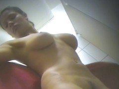 Girl with high-class ass voyeured in the dressing room