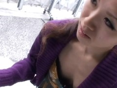 Real downblouse amateur japanese teen