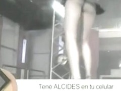 Dancer girls in a TV show provide free upskirts for the audience