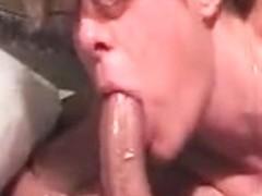Big dick gets an oil rub