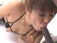 Small Asian girl and big black cock