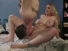 Guy in lingerie tormented by step mom