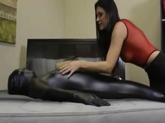 Kinky delicious MILF tortures her thrall