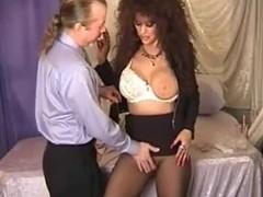 Hawt Breasty Brunette Hair Cougar Smokin' Playing and Banging