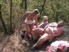 old couple fuck young blonde hottie