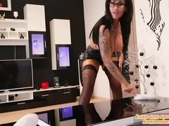 German big tits tattoo milf seduced husband to make her creampie
