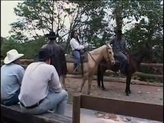 Cowboys Watching Sexy Pair fucking in Farm