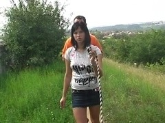 Renata in slut shagging in nature in this pickup porn