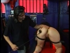 Gorgeous brunette gets a proper BDSM treatment
