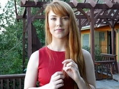 Redhead real estate fucks her client