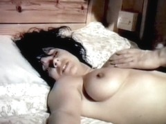 Vintage 80s British hairy beauty tied down groped