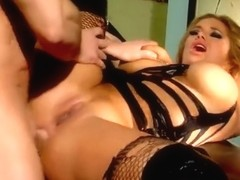 Marvelous busty Shyla Stylez is giving a blowjob