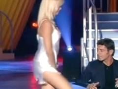 TV show strip tease, glorious ass, upskirt gown video