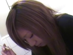 Japanese slut takes a piss and gets in a pee spy camera clip