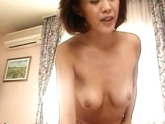Japanese milf waking up a stud to ride his dick