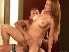 Mom xxx: Couple making love on the bathroom floor