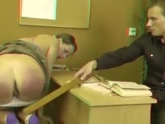 Curvy Brunette Student Disappointed Her Teacher So Much